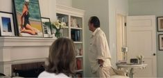 """Jack Nicholson collects and appreciates art, and he suggested they look into the """"beach art"""" of Edward Henry Potthast. A reproduction/version of his Rockaway Something's Gotta Give House, Alexandria House, Practical Magic House, Home Library Design, Tudor Style Homes, Celebrity Houses, Shabby Chic Cottage, Beach House Decor, Kids House"""
