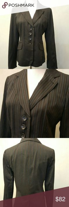 Ann Taylor black stripped blazer ANN TAYLOR black stripped blazer in perfect condition like New.  **1-2bin  (storage note to self) Ann Taylor Jackets & Coats Blazers