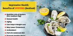 Impressive Health Benefits of Oysters (Seafood) Honey Cinnamon Drink, Health Benefits, Health Tips, Zinc Deficiency, Fresh Oysters, Healthy Aging, Eating Raw, Lower Cholesterol, Balanced Diet