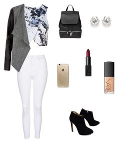 """""""?"""" by amanrose on Polyvore featuring Topshop, Giuseppe Zanotti, COSTUME NATIONAL, NARS Cosmetics and Rifle Paper Co"""