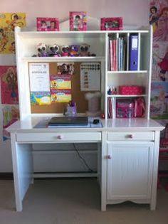 Girls Desk and shelves.
