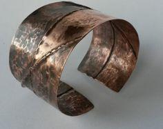 Pulsera brazalete de cobre hechos a mano rústico por FebraRose