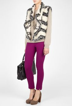ACNE grape best lux skinny trousers