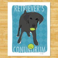 Black Labrador Retriever Print Modern Dog Art  by PopDoggie, $18.00