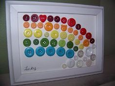 Do you have more leftover buttons than you know what to do with? Why not turn them into a cute St. Patrick's Day decoration with this simple tutorial? This Over the Rainbow Button Art is an easy St. Patricks Day craft for kids, plus it's a great stashbuster project! Find out how to make this thrifty piece of holiday wall art with these instructions.