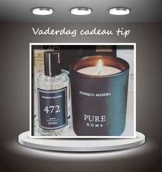 - Tip: verras jouw vader met zijn favoriete cadeau., Bij elke Pure of Pure Royal geur voor mannen die je aankoopt kan je een Home Ritual Candle toevoegen voor € 5,45. Deze kost normaal 19,95 euro. Let op als je deze kaars wilt aankopen moet je deze zelf toevoegen in de winkelwagen. Dit kan onderaan via de extras.  Keuze uit Home Ritual Candle nr. 52, 110 of 199.  De actie loopt tot 22/06/2020, 12:00 uur. Shop snel, zolang de voorraad strekt! Shop in onze store  #parfum #vaderdag #candle Candle Jars, Candles, Tips, Shopping, Fragrance, Candle Mason Jars, Candle, Lights