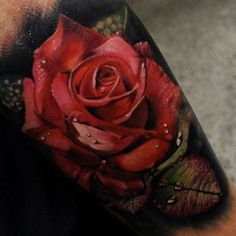These 49 rose tattoo designs and ideas are really amazing. Find your inspiration with our gallery of rose tattoos on shoulder, sleeve, arm or hand. 3d Flower Tattoos, Beautiful Flower Tattoos, Flower Tattoo Designs, Tattoo Designs For Women, Tattoos For Women, Floral Tattoos, Beautiful Flowers, Forearm Tattoos, Body Art Tattoos
