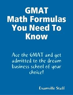 GMAT Math Formulas You Need To Know.