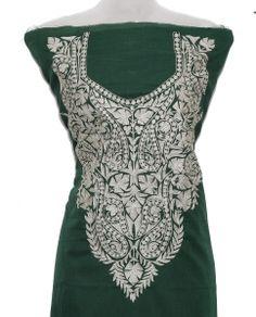 Green color suit  Tilla work  Summer cool cotton