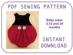 Baby Mickey Pattern. PDF sewing pattern. Onesie Mickey body