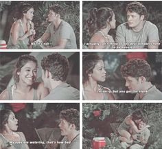 This is honestly the cutest thing. Gina Rodriguez as Jane Villanueva and Brett Dier as Michael Cordero in Jane the Virgin. Netflix Series, Tv Series, Jane And Rafael, Jane And Michael, Las Vegas, I Have No Friends, Gina Rodriguez, Funny Memes, Hilarious