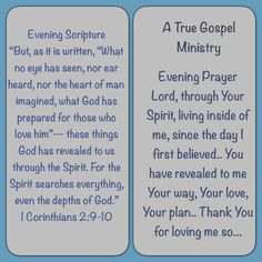 Scripture & Prayer #atruegospelministry