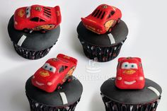 Cupcake Topper de Rayo McQueen / Lightning McQueen (cars)