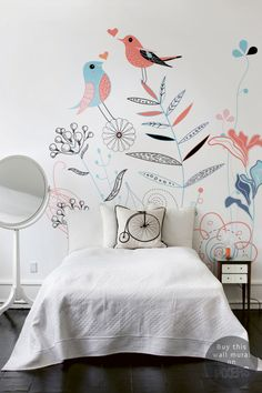 Wall Mural Song Birds