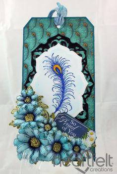 Heartfelt Creations | Feathery Peacock Tag
