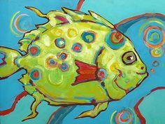 great fish folk art
