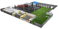 If you're ever going to build a gym, do it like Adrian Peterson. The Minnesota Vikings star has set the bar for fantasy factory-like gyms with his new establishment, O Athletik. What does O Athletik have that makes it so special, you ask? Gym Design, Fitness Design, Indoor Basketball Court, Mma Classes, Gym Plans, Dream Gym, Gym Facilities, Mma Gym, Functional Training