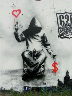 Banksy - one of the best graffiti artists in Britain. His work is mind blowing.