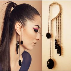 Why Not Decorate The Whole Ear Rather Than Just Lobe Stylish Punk Black