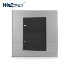 2017 Hot Sale 2 Gang Reset  Wallpad Luxury Electric Curtain Shutter Switch Momentary Contact Wall Switches
