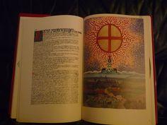 """«Carl Gustav #Jung - Libro Rojo». El Libro Rojo es un manuscrito escrito e ilustrado por Carl Gustav Jung entre aproximadamente 1914 y 1930, considerado el núcleo de su obra posterior. El escrito fue denominado por Jung Liber Novus (""""Libro Nuevo"""" en latín). El manuscrito de tamaño folio (15.35 por 11.57 pulgadas; 38.99 por 29.39 cm) fue encuadernado en cuero rojo y era comúnmente referido por Jung como el Libro Rojo. Había permanecido inédito hasta su publicación el 7 de octubre de 2009."""