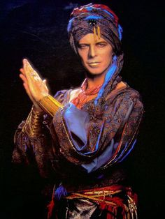 "David Bowie as Screaming Lord Byron in the music video for ""Blue Jean,"