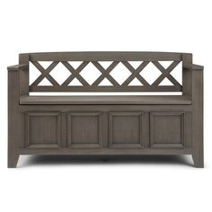 WYNDENHALL Halifax SOLID WOOD 48 inch Wide Transitional Entryway Storage Bench - 48 Inches wide - On Sale - Overstock - 7326885 Tufted Storage Bench, Entryway Bench Storage, Bed Bench, Bench With Storage, Storage Spaces, Plywood Storage, Dark Grey Rooms, Storage Compartments, Solid Wood