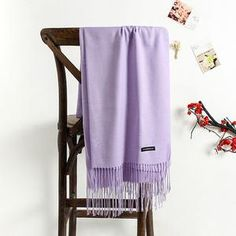 Scarves Women Long Shawl Solid Colour All-Matchn Style Elegant Ladies Wraps Womens Soft Warm Winter Scarfs Trendy Apish Womens Scarves Cashmere Pashmina, Purple Scarves, Wool Scarf, Shawls And Wraps, Scarf Styles, Lady, Womens Scarves, Outfits, Plastic Bags
