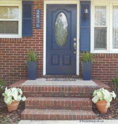 Front entry with new door