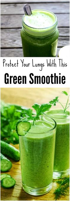 Green #Smoothie That Will Clean and Protect Your Lungs