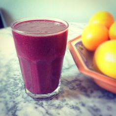 Berry & beetroot smoothie from Fuss Free Flavours