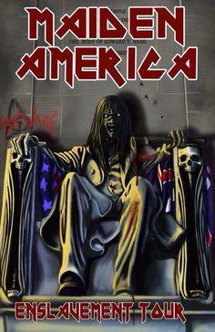 Iron Maiden Posters, Eddie The Head, Where Eagles Dare, Rock Poster, Best Rock Bands, Heavy Metal Rock, Arte Horror, Rock Concert, Dark Fantasy Art