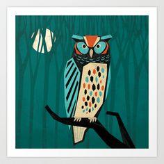 'Great Horned Owl' by Eine Kleine Design Studio