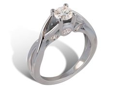 Lazare's Triple Twist Engagement Ring