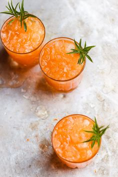Bubbly Carrot Shrub with Tarragon: a bubbly carrot shrub cocktail with tarragon topped with champagne or a carrot shrub cocktails topped with sparkling water - a fall or Thanksgiving cocktail.