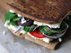 Greek Grilled Cheese recipe with feta. Yum!
