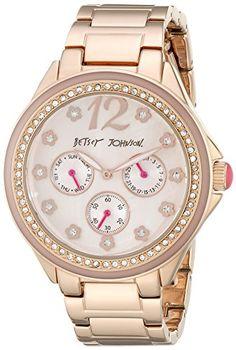 Betsey Johnson Women's BJ00474-03 Analog Display Quartz Rose Gold Watch -