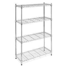 Metal Wire 4 Tier Bakers Rack Shelves Shelving Shelf