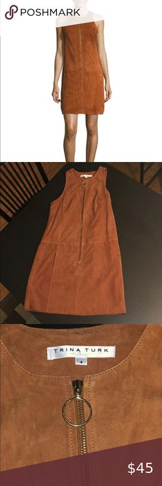 Trina Turk Gower Suede Mini Dress Size 4 Perfect condition, never worn Size 4 Trina Turk Dresses Mini