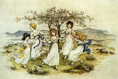 Girls with Posies by Kate Greenaway