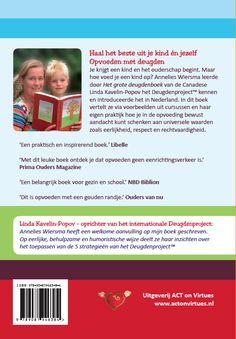 Omslag ontwerp 'Opvoeden met deugden' door Annelies Wiersma (back)