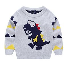 Product review for Dinosaur Round Neck Knitted Sweatshirt Kids/Boys.  Good looking and comfortable knitted vest tank for boys. Perfectly practical for everyday use. Your boy is sure to feel cool and comfortable. Ideal for wearing over asmart shirt. Sleeveless and Long Sleeve , finished with a round neck cut. Quality knitted tank top made from soft-touch material:...