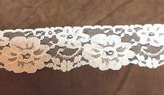 Cream  Floral Lace   2 3/8 inches   1 Yard