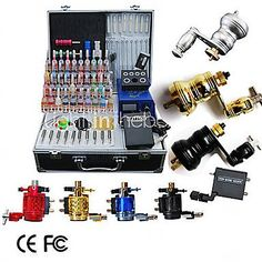 8 Rotary Tattoo Machine Kit with LCD Power and 40 Color Ink, 425.00   425.00…