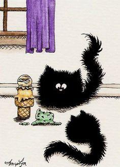 Comical cartoon cats by amylyn bihrle - на бэби.ру