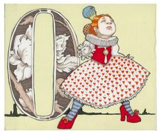 O is for Off with her Head 9x7.5 Wonderland Alphabet