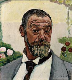 《バラのある自画像》1914年 シャフハウゼン万聖教会博物館