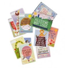 Milestone Baby Cards (illustrated by Beci Orpin) great for new mums milestone photos