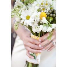 DIY Daisy Wedding Arrangements Doing the Daisy Thing! ❤ liked on Polyvore featuring backgrounds and flowers