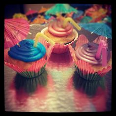 Pinned 1 year ago today for my Leahs 3rd bday party! Happy 4th little lady! Fun cupcakes for kid or adult summer parties!